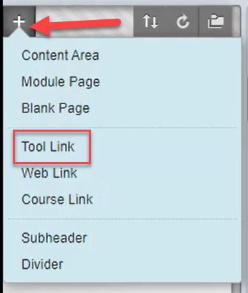 Tool link drop down options