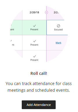 Add attendance button